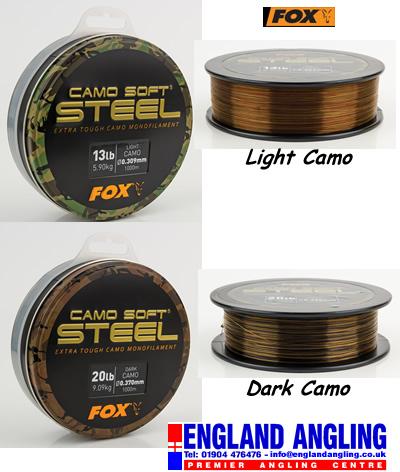 Carp Fishing Line Fox Camo Soft Steel Mono Dark Camo 1000m