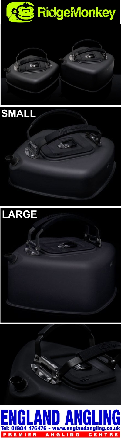 RidgeMonkey Square Kettle both sizes available 0.5 Litre and 1.1 Litre